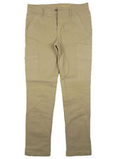 Pantaloni uomo JAGGY Stroke Tg W34 IT 48 Cargo Beige Cotone Stretch Slim New