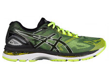 NEW MENS ASICS GEL-NIMBUS 19 RUNNING SHOES TRAINERS BLACK / SAFETY YELLOW / SILV