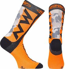 Calzini Estivi Northwave EXTREME TECH Camo/Orange Fluo/SUMMER SOCKS NORTHWAVE