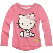 Hello Kitty Kinder Langarmshirt - T-Shirt - Shirt (Rosa)