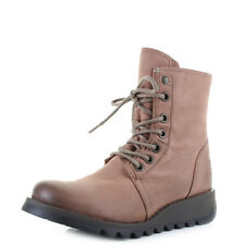 Womens Fly London Suti Cupido Rose Leather Lace Up Ankle Boots UK Size