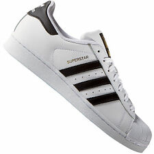 Adidas superstar white nero gold label formatori originali c77124