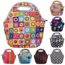 Zip Neoprene Insulated Lunch Tote Bag Portable Bento Travel Picnic Cooler Bag