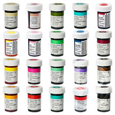 """Wilton Icing Colours 20 Food Colours Concentrated Gel Paste """"EU"""" Cake Decorating"""