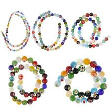 Mix Spacer Loose Glass Millefiori Round Flower Beads Lampwork for Jewelry Making