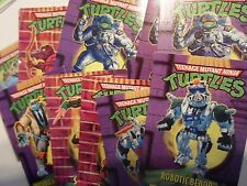 TMNT Ninja Turtles 1995 Action Figure Parts Collector's Trading Cards From MOC