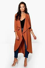 Boohoo Womens Grace Waterfall Duster