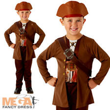 Jack Sparrow Boys Fancy Dress Kids Pirates of the Caribbean Film Childs Costume