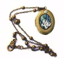 gold tone vintage VICTORIAN large hinged double photo locket mothers day gift