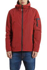 Weekend Offender Godfather Shimmer Hooded Jacket in Chilli Red SALE RRP £120