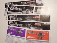 Transformers Movie 2007 Allspark Action Figure Parts Instructions Books Manuals