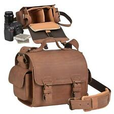 Leather Camera Case Carry Bag for Camera Photo Shoulder Strap brown
