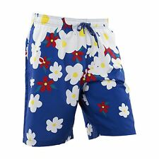 ADIDAS Originali PHARRELL WILLIAMS Margherita Pantaloncini da nuoto blu Hawaiano