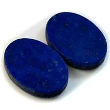 Natural Lapis Lazuli Oval Cabochon Pair Collection