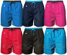 Mens casual beach surf board holiday summer swim shorts mesh lined trunks