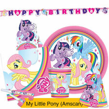 My Little Pony Arcobaleno GAMMA FESTA {Amscan} (COMPLEANNO/Banner/PALLONCINI /