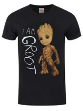 Guardians Of The Galaxy I Am Groot Men's Black T-shirt