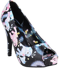 Iron Fist MY LITTLE PONY Pin Up PEEP TOES Pumps High HEELS Rockabilly