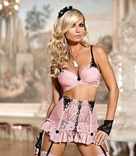 AXAMI SET Push-up BH + String V-4221 Coquette Dessous Cup 65 70 75 80 85 ABCDE