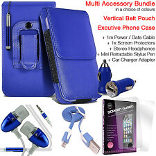 Quality Vertical Belt Pouch Phone Protection Case Cover✔Accessory Pack✔Blue