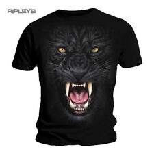 SPIRAL DIRECT Gothic T Shirt TRIBAL PANTHER Cat Face All Sizes