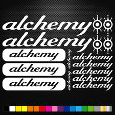 Alchemy Bikes Vinyl Decal Stickers Sheet Frame Cycles Cycling Bicycle Mtb Road