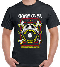 Pack-man GAME OVER - Rétro Gioco Arcade - UOMO T-SHIRT DIVERTENTI PACMAN