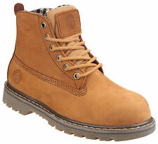 Amblers FS103 Safety Steel Toe Cap Boots Womens Leather Lace Up Shoes UK3-8
