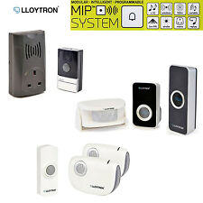 Wireless Portable Mains Plug In IP44 PIR Sensor Twin Receiver Door Bell Doorbell