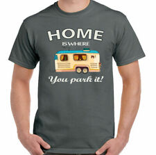 Home is Donde You Park It Hombre Divertido Caravaning Camiseta CARAVANA CAMPING