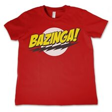 T-Shirt  Maglietta The Big Bang Theory, Bazinga! in cotone - Rosso, L