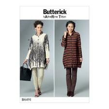 BUTTERICK SEWING PATTERN MISSES' EASY VERY LOOSE-FITTING SHIRT XSM - XXL B6491