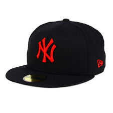 New York Yankees Black/Red MLB New Era 59FIFTY [5950] Fitted Cap