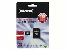 16 GB MicroSDHC Micro SD Speicherkarte mit SD-Adapter Intenso Class 10 Highspeed