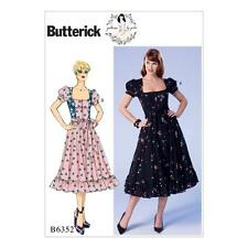 BUTTERICK COUTURE MOTIF FEMMES' ROBE & CEINTURE TAILLE 6 - 22 B6352