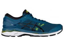 NEW MENS ASICS GEL-KAYANO 24 RUNNING SHOES TRAINERS INK BLUE / BLACK / SAFETY YE