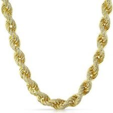 11mm Gold 925 Silver Hand Made Iced Out Dookie Rope Chain