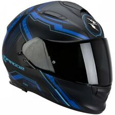 Casco moto Integral Scorpion Exo-510 Aire Sincronizador Negro mate Azul