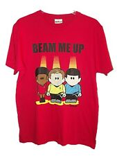 NEW MENS FUN WEENICONS STAR TREK BEAM ME UP RED T-SHIRT SPOCK! Sz M CHRISTMAS