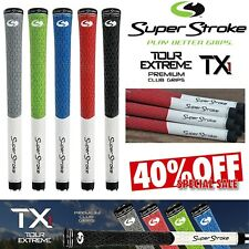 SUPERSTROKE GOLF GRIPS TX1 TOUR EXTREME HALF CORD MENS GOLF CLUB GRIPS NEW 2017