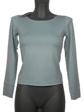 Maglia donna BST Milano tg 42 Celeste Viscosa Stretch Made in Italy New T-Shirt