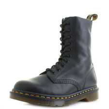 Womens Dr Martens 1490 Black Virginia Lace Up Leather DM Boots UK Size