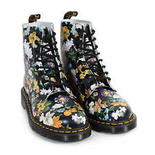 Dr Martens Women's Pascal Darcy Floral Backhand Leather Boot Black
