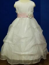 NEW YKI COLLECTION GIRL'S FIRST COMMUNION / FLOWER GIRL DRESS SIZE 2 - 12