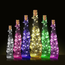 Cork Shaped LED Night Light Starry Lights Wine Bottle Lamp For Party Colorful UK