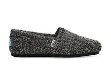 TOMS Womens Black Sweater Knit Shearling Classics Espadrilles Various Sizes