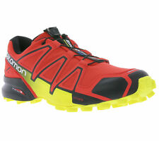 NEW Salomon Speedcross 4 Men's Shoes Trail-Running Shoes Trainers Red