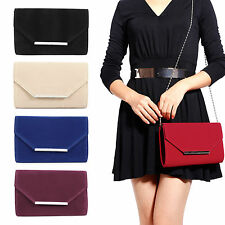 SAC BANDOULIERE SAC A MAIN CHAINE BESACE SUEDE ENVELOPPE METAL BOUTON SOIREE BAL