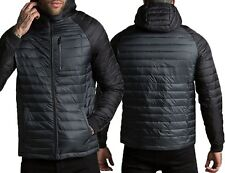 Mens Threadbare Padded Quilted Hooded Jacket Coat Warm Winter Designer GLENDALE