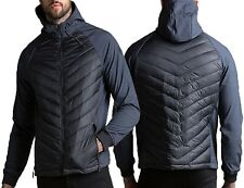 Mens Threadbare Padded Quilted Hooded Jacket Coat Warm Winter Designer Bradley